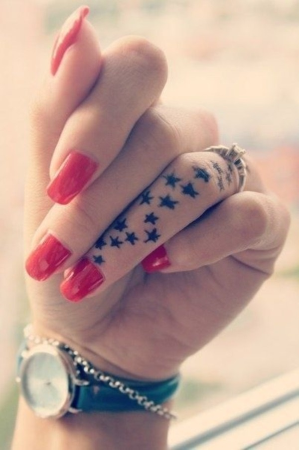 55 cute little finger tattoo ideas to try this year for Finger tattoo ideas