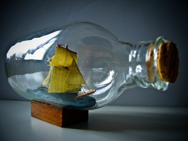 Incredible Ship inside Bottle Art Works0011