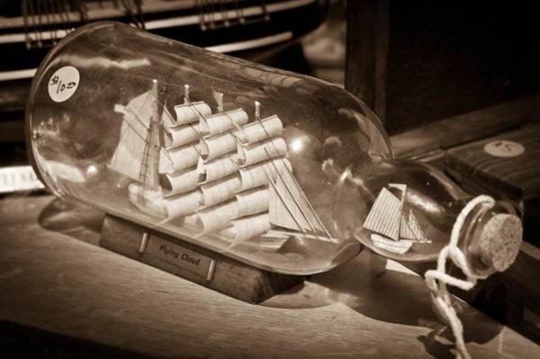 Incredible Ship inside Bottle Art Works0051