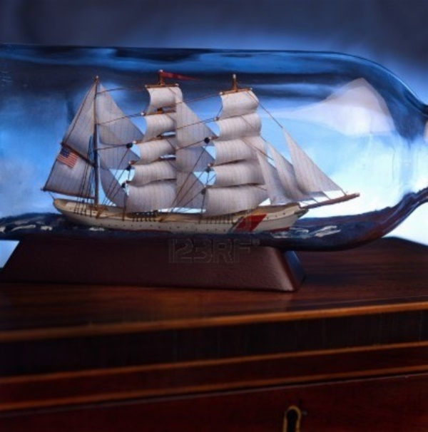 Incredible Ship inside Bottle Art Works0071