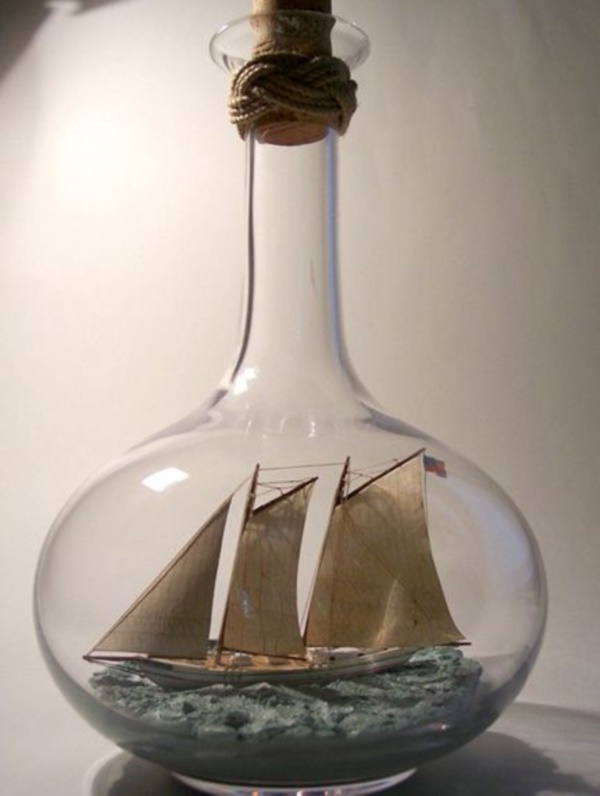 Incredible Ship inside Bottle Art Works0121