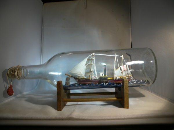 Incredible Ship inside Bottle Art Works0151