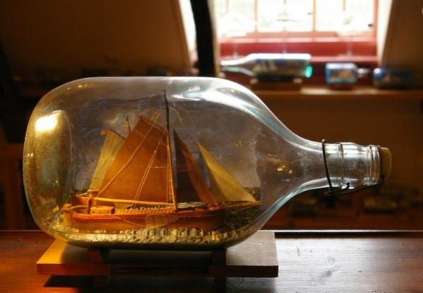 Incredible Ship inside Bottle Art Works0161