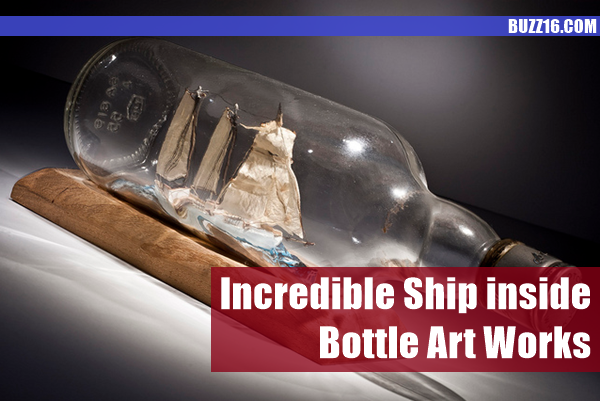 Incredible Ship inside Bottle Art Works0191