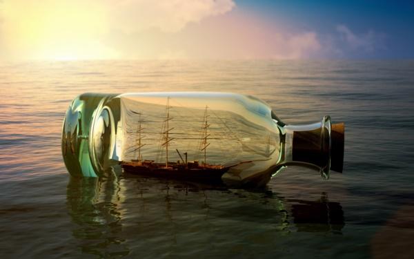 Incredible Ship inside Bottle Art Works0211