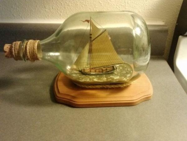Incredible Ship inside Bottle Art Works0241