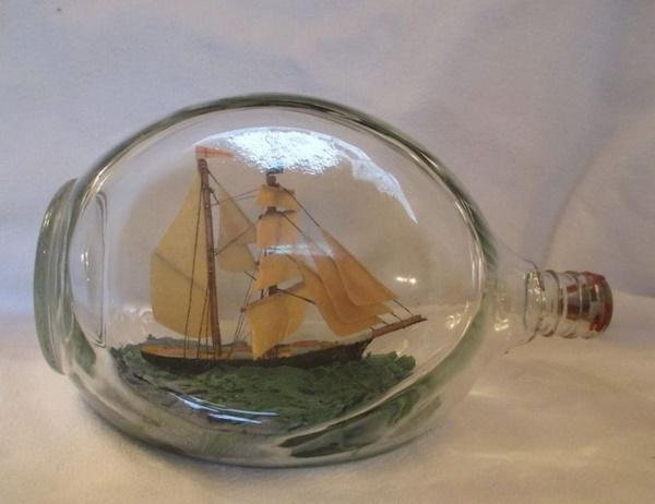 Incredible Ship inside Bottle Art Works0261
