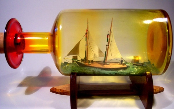 Incredible Ship inside Bottle Art Works0281