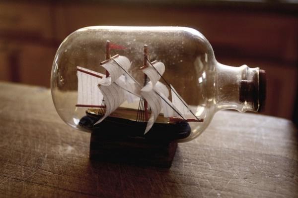 Incredible Ship inside Bottle Art Works0311