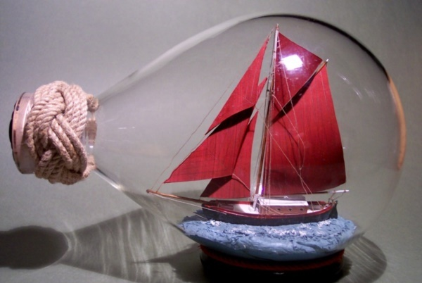 Incredible Ship inside Bottle Art Works0321