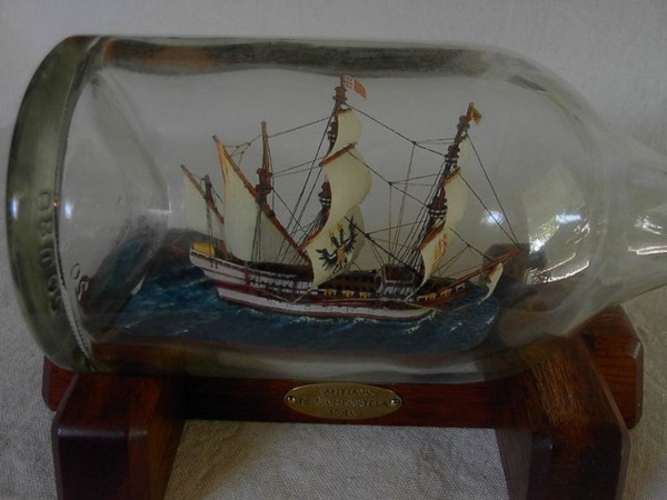 Incredible Ship inside Bottle Art Works0331