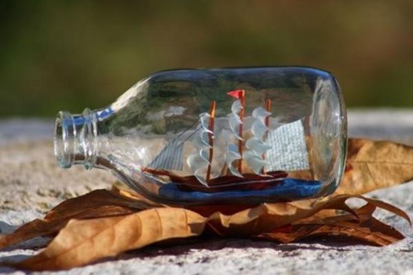 Incredible Ship inside Bottle Art Works0401