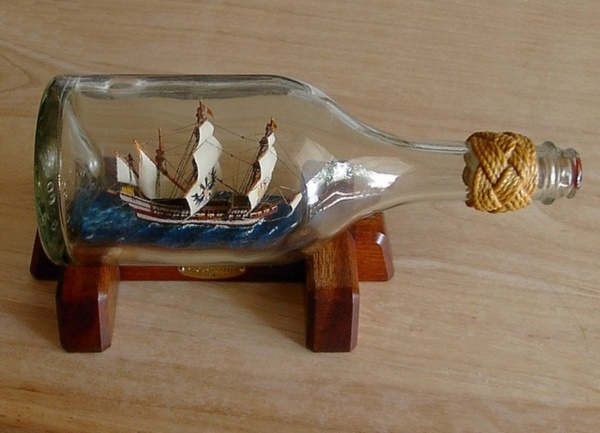 Incredible Ship inside Bottle Art Works0411