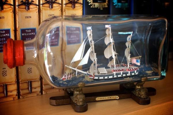Incredible Ship inside Bottle Art Works0421