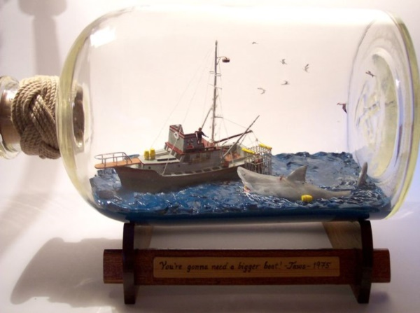 Incredible Ship inside Bottle Art Works0431