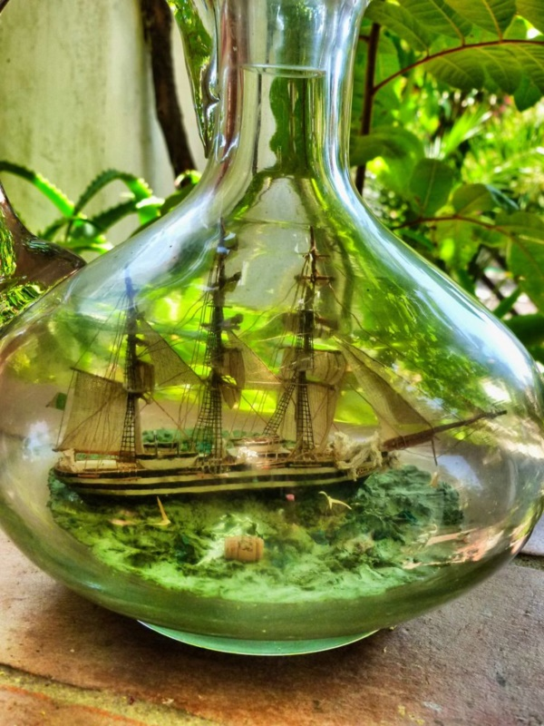 Incredible Ship inside Bottle Art Works0441