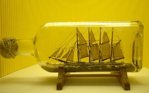 Incredible Ship inside Bottle Art Works0451