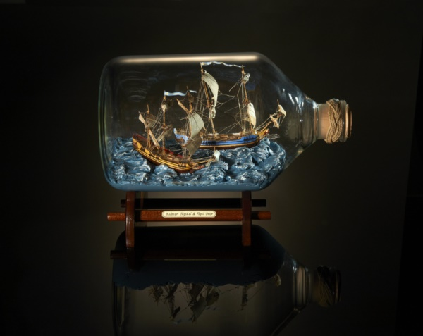 Incredible Ship inside Bottle Art Works0461