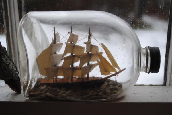 Incredible Ship inside Bottle Art Works0471