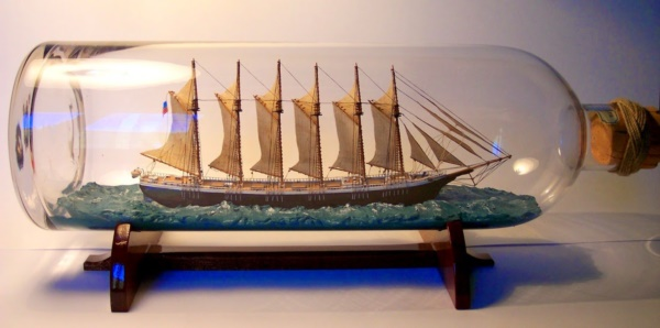 Incredible Ship inside Bottle Art Works0481