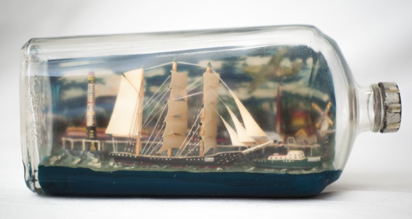 Incredible Ship inside Bottle Art Works0491