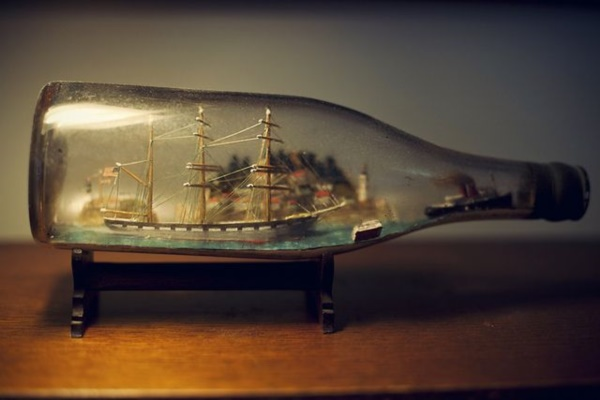 Incredible Ship inside Bottle Art Works0501