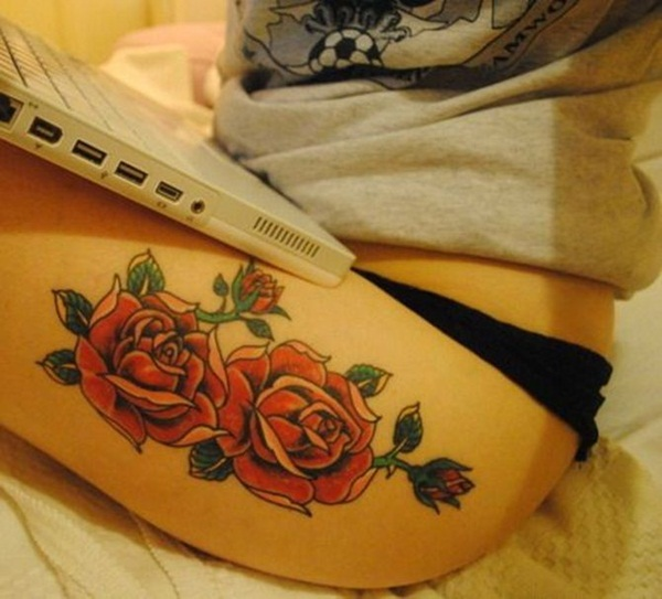Thigh tattoos for girls15-015