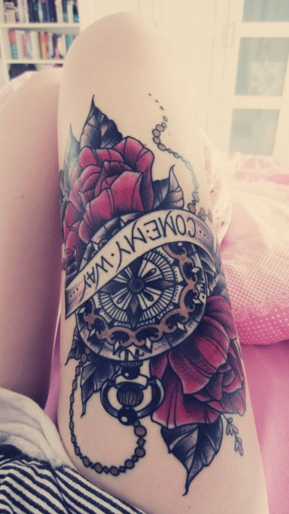 Best 70 Sexy Thigh Tattoo Designs and Ideas for Girls 2016