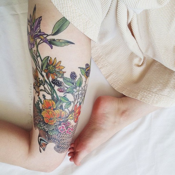 Thigh tattoos for girls21-021