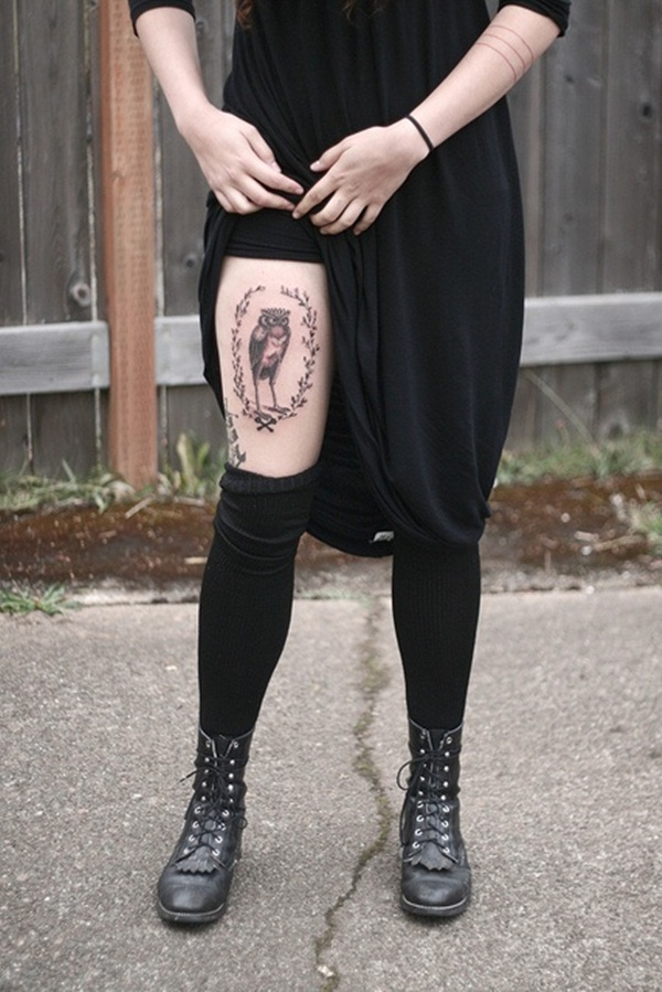 Thigh tattoos for girls25-025