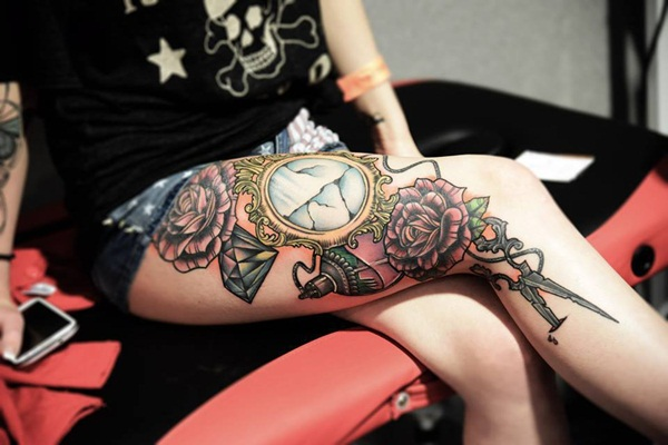 Thigh tattoos for girls28-028