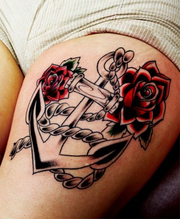 Thigh tattoos for girls43-043