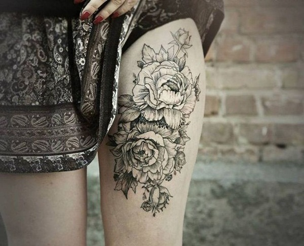 Thigh tattoos for girls44-044