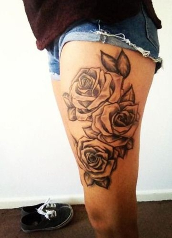 Thigh tattoos for girls45-045
