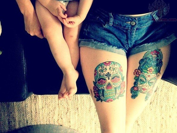 Thigh tattoos for girls46-046