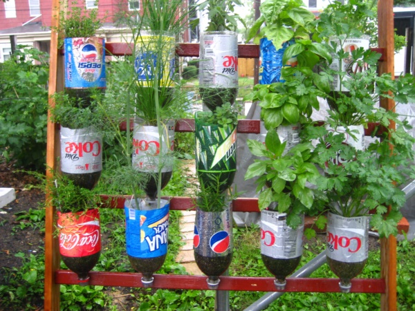 Recycled plastic bottles gardening ideas recycled things for Recycled decoration
