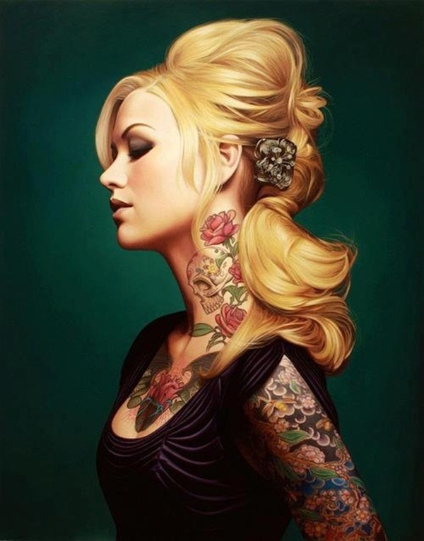 neck tattoos ideas for girls15-015