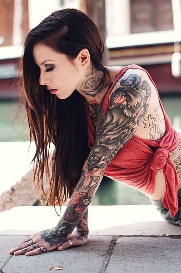 neck tattoos ideas for girls16-016