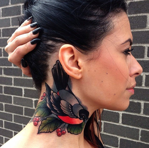 neck tattoos ideas for girls34-034