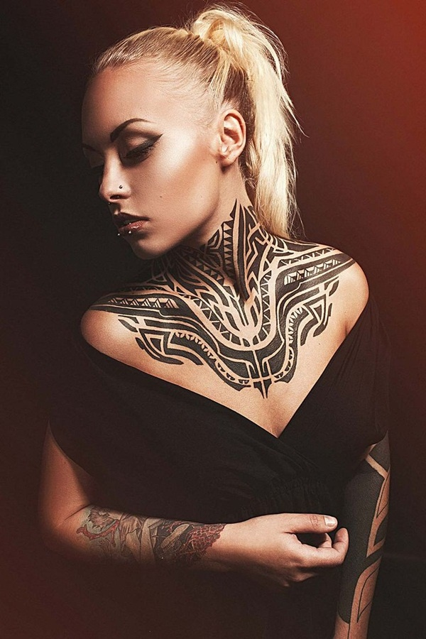neck tattoos ideas for girls4-004