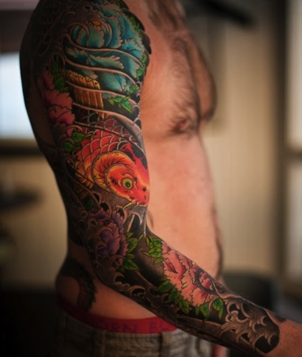50 Cool Japanese Sleeve Tattoos for Awesomeness0171
