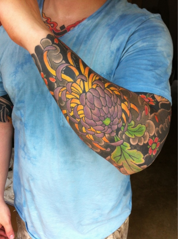 50 Cool Japanese Sleeve Tattoos for Awesomeness0271
