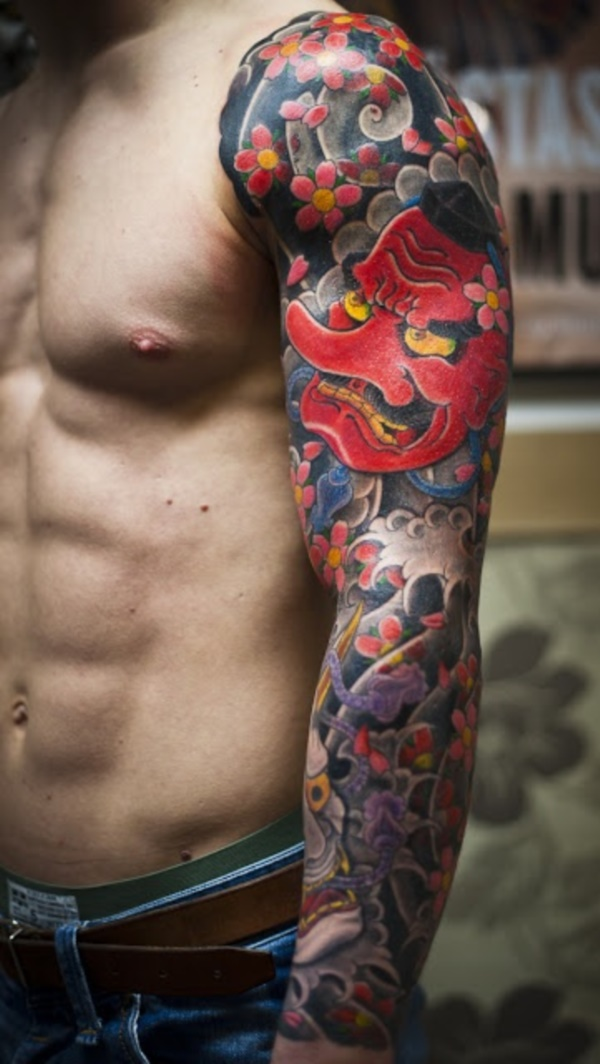 50 Cool Japanese Sleeve Tattoos for Awesomeness0391