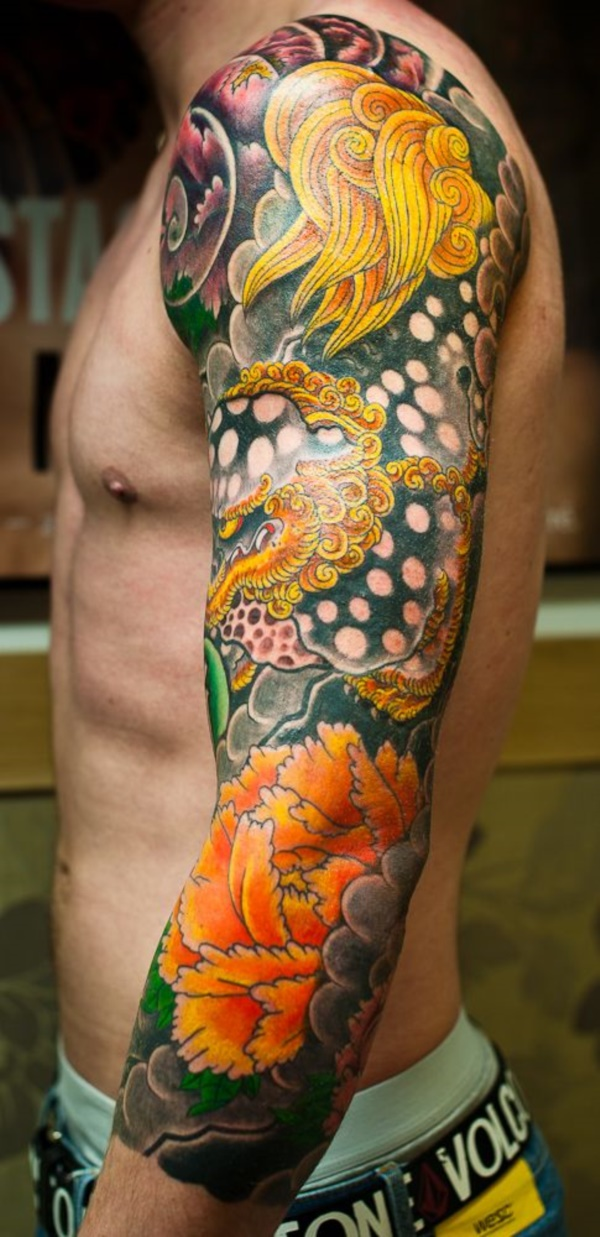 50 Cool Japanese Sleeve Tattoos for Awesomeness0421