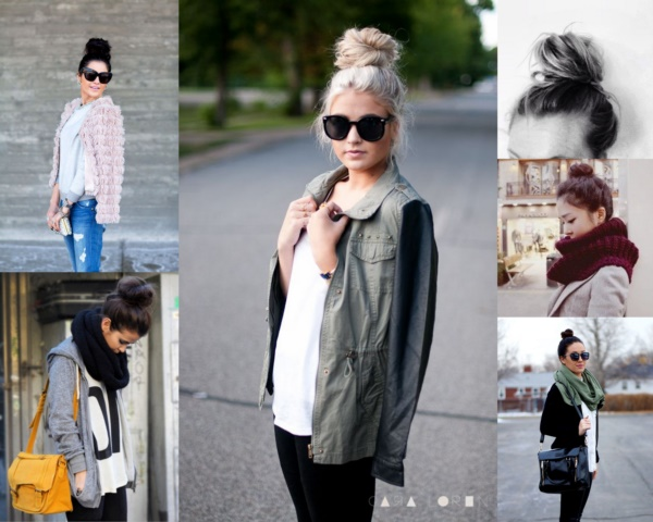 50 Cute Top Knot Bun Hairstyle + Outfit Combos0151