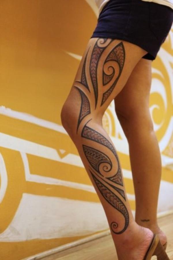 50 Sexy Hawaiian Tribal Tattoos for Girls0031