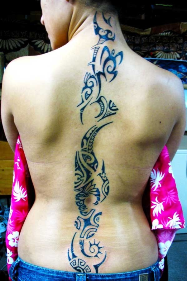 50 Sexy Hawaiian Tribal Tattoos for Girls0041