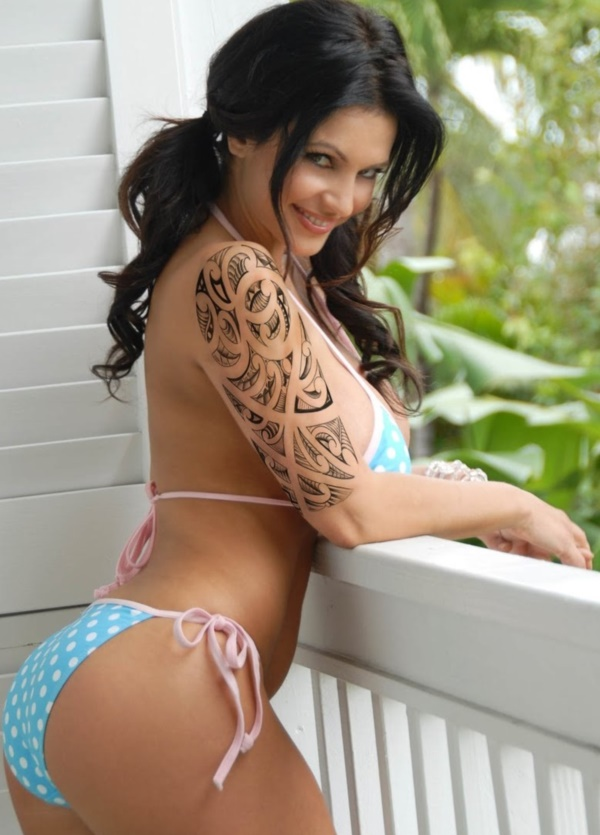50 Sexy Hawaiian Tribal Tattoos for Girls0081