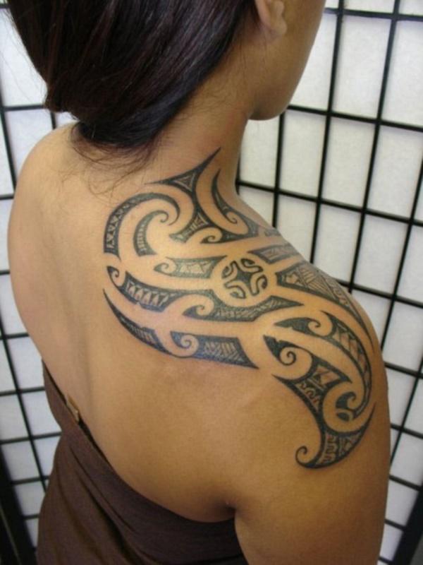 50 Sexy Hawaiian Tribal Tattoos for Girls0201