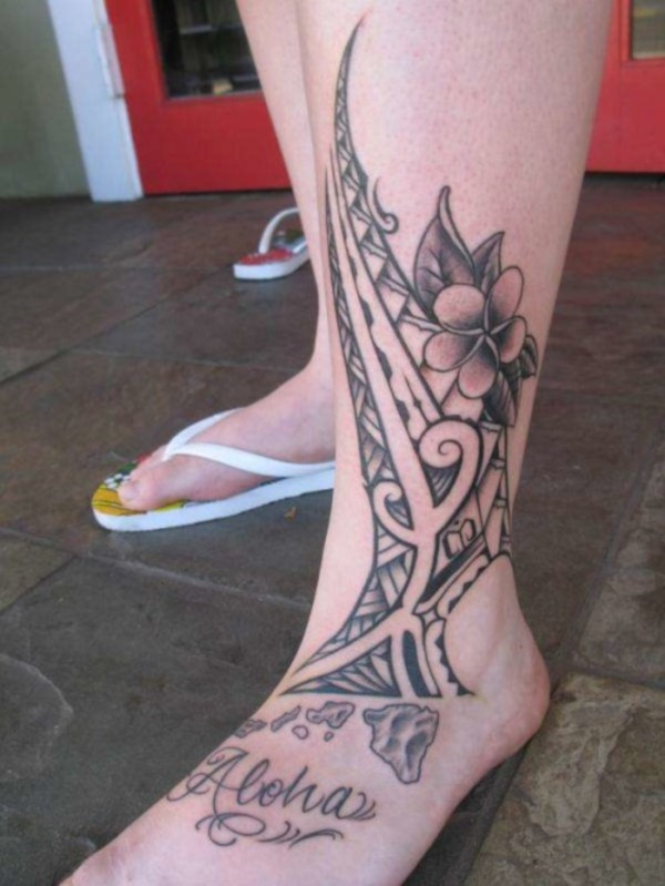 50 Sexy Hawaiian Tribal Tattoos for Girls0211